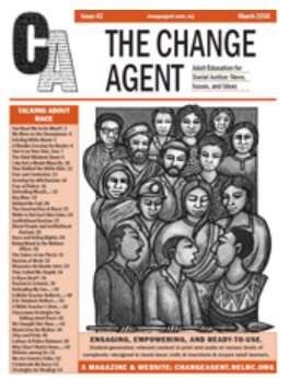 "Cover of The Change Agent, ""an adult education magazine for social justice"""