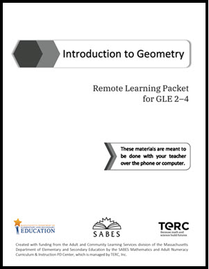 cover page of Geometry student packet